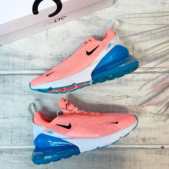 Nike Air Max 27 In Lava Glowblue Fury